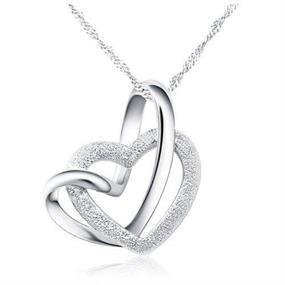 Twisted Heart Necklace - silver