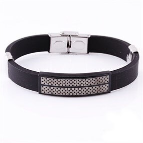 Elegant Rubber Bracelet - Men's