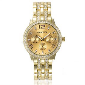 Elegant Round Watch - Gold