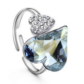 Heart to Heart Ring - Ajustable