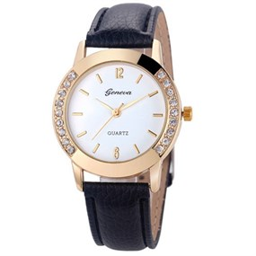 Ladies Daytime Strap Watch - black