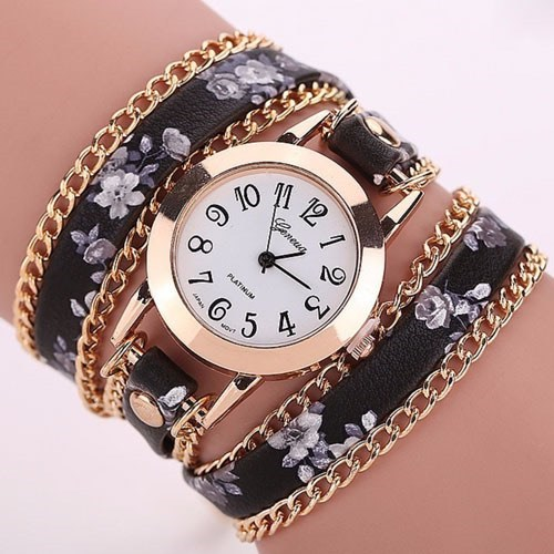 Floral  Wrap Bracelet Watch