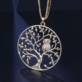 Giving Tree Necklace - gold coloured