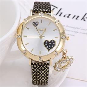 Lovely Watch with Heart Charm