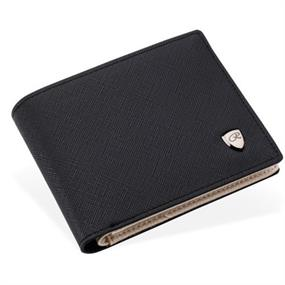 Black and White Bifold Wallet