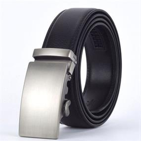 Genuine Leather Belt with a Sliding Buckle
