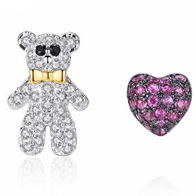 Bear and Heart Studs