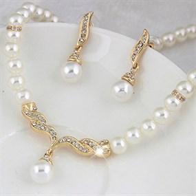 Gatsby Inspired Pearls Set - 2 Pcs