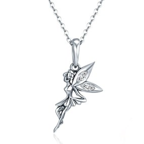 Tinkerbell Fairy Necklace