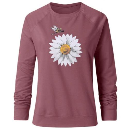 Daisy Long Sleeve T-Shirt/XL - brown